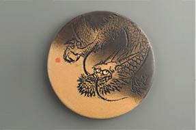 干支陶額の写真